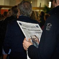 """""""Elezioni subito"""" manifestazione organizzata al teatro Manzoni da Giuliano Ferrara comntro il governo Monti..Quotidiano il Giornale"""