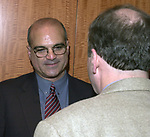 ?? And Fred Tuccillo photographed at the Celebration of the 35th Anniverserary of Newsday Investigations Team held in Newsday Auditorium in Melville on Thursday September 26, 2002. (Newsday photo by Jim Peppler).
