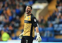 Keiren Westwood of Sheffield Wednesday during the Sky Bet Championship match between Sheffield Wednesday and Nottingham Forest at Hillsborough, Sheffield, England on 9 September 2017. Photo by Leila Coker / PRiME Media Images.