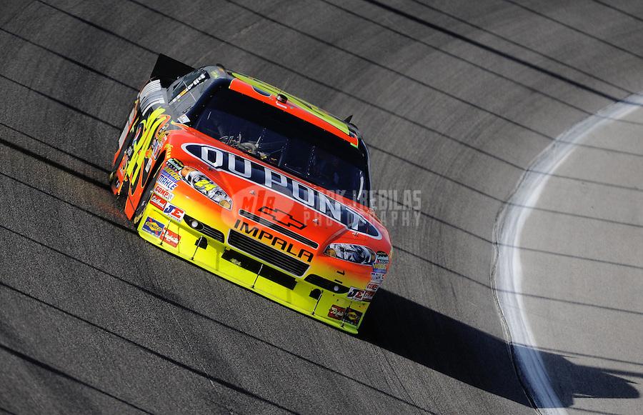 Nov. 21, 2010; Homestead, FL, USA; NASCAR Sprint Cup Series driver Jeff Gordon during the Ford 400 at Homestead Miami Speedway. Mandatory Credit: Mark J. Rebilas-
