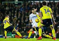 Leeds United's Mateusz Klich shoots at goal through a crowded penalty area<br /> <br /> Photographer Alex Dodd/CameraSport<br /> <br /> The EFL Sky Bet Championship - Leeds United v Blackburn Rovers - Wednesday 26th December 2018 - Elland Road - Leeds<br /> <br /> World Copyright &copy; 2018 CameraSport. All rights reserved. 43 Linden Ave. Countesthorpe. Leicester. England. LE8 5PG - Tel: +44 (0) 116 277 4147 - admin@camerasport.com - www.camerasport.com