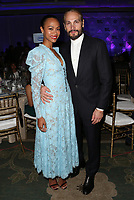 LOS ANGELES, CA - NOVEMBER 8: Zoe Saldana and Marco Perego Saldana at the Eva Longoria Foundation Dinner Gala honoring Zoe Saldana and Gina Rodriguez at The Four Seasons Beverly Hills in Los Angeles, California on November 8, 2018. Credit: Faye Sadou/MediaPunch