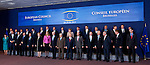 Brussels-Belgium - June 28, 2012 -- European Council, EU-summit meeting of Heads of State / Government; here, all 28 pose for a family picture with Catherine ASHTON (le), High Representative for Foreign Affairs and Security Policy of the EU and Vice President of the European Commission, with the Presidents of the European Commission: José (Jose) Manuel BARROSO, the European Council: Herman VAN ROMPUY, the European Parliament: Martin SCHULZ, and the Secretary General of the EU-Council, Uwe CORSEPIUS (ri)  -- Photo: © HorstWagner.eu
