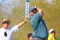 Colt Knust (USA) tees off the 9th tee during Saturday's Round 3 of the Waste Management Phoenix Open 2018 held on the TPC Scottsdale Stadium Course, Scottsdale, Arizona, USA. 3rd February 2018.<br /> Picture: Eoin Clarke | Golffile<br /> <br /> <br /> All photos usage must carry mandatory copyright credit (&copy; Golffile | Eoin Clarke)