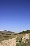 Israel, Menashe Heights, the road to Emek Hashalom