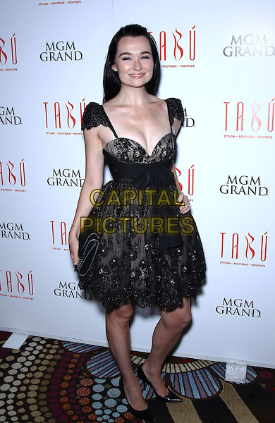 "Kristen Ruhlin.""She Wants Me"" cast celebrates DVD Release at Tabu inside MGM Grand Hotel and Casino, Las Vegas, Nevada, USA..September 8th, 2012.full length black lace dress cleavage .CAP/ADM/MJT.© MJT/AdMedia/Capital Pictures."