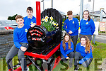 CAstleisland Community College students with the train they made for Castleisland Tidy Towns which they placed at the old Castleisland Railway Station site l-r: John Seguran, Airidas Budrys, front Katelyn Brennan, Leah O'Connell back Hubert Turkiewicz and Siobhan O'Donoghue