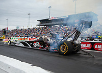 Mar 16, 2019; Gainesville, FL, USA; NHRA top alcohol dragster driver Dan Mercier during qualifying for the Gatornationals at Gainesville Raceway. Mandatory Credit: Mark J. Rebilas-USA TODAY Sports