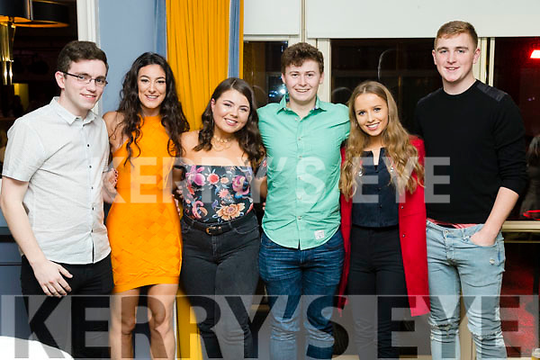 Pictured at Ballymac Strictly Come Dancing, at Ballygarry House Hotel & Spa, Tralee, on Saturday night last, were l-r: Chris Ahern, Katie Hayes, Katie Nic Craith, Darragh Costello, Laura Healy and Emmett Meehan.
