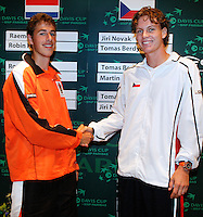 21-9-06,Leiden, Tennis, draw,Daviscup, Haase(l) and Berdych