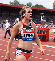 Stephanie Twell of Great Britain before the women's 3000m during the Muller Grand Prix  IAAF Diamond League meeting at Alexander Stadium, Perry Barr, Birmingham.<br /> Picture by Alan Stanford +44 7915 056117<br /> 18/08/2018
