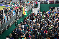 Fans congregate outside the players balcony hoping for a glimpse of their heroes during Pakistan vs Sri Lanka, ICC World Cup Cricket at the Bristol County Ground on 7th June 2019