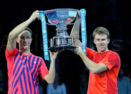 20.11.2016. The O2, London, England. ATP World Tour Tennis Finals. Day Eight.  Henri Kontinen (FIN) and John Peers (AUS) defeated  Raven Klaasen (RSA) and Rajeev Ram (USA) in their doubles final by score of 2-6,6-1,10-8 during day 8 at Barclays A  World Tour Finals from the O2 Arena.