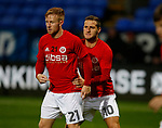 Mark Duffy of Sheffield Utd and Billy Sharp of Sheffield Utd during the Championship match at the Macron Stadium, Bolton. Picture date 12th September 2017. Picture credit should read: Simon Bellis/Sportimage