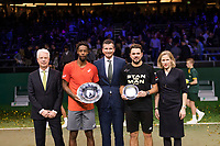 Rotterdam, The Netherlands, 17 Februari 2019, ABNAMRO World Tennis Tournament, Ahoy, Final, Gael Monfils (FRA) - Stan Wawrinka (SUI), Richard Krajicheck, <br /> Photo: www.tennisimages.com/Henk Koster