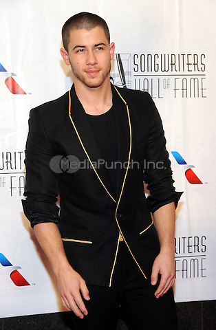 NEW YORK, NY - JUNE 09: Nick Jonas attends the 47th Annual Songwriters Hall Of Fame Induction And Awards Gala at The New York Marriott Marquis on June 9, 2016 in New York City.  Photo Credit:John Palmer/ Media Punch