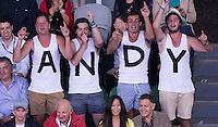AMBIENCE ANDY MURRAY FANS<br /> <br /> Tennis - Australian Open 2015 - Grand Slam -  Melbourne Park - Melbourne - Victoria - Australia  - 1 February 2015. <br /> &copy; AMN IMAGES