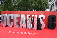 "Helena Bonham Carter, Sandra Bullock, Sarah Paulson & Mindy Kaling arriving for the ""Ocean's 8"" European premiere at the Cineworld Leicester Square, London, UK. <br /> 13 June  2018<br /> Picture: Steve Vas/Featureflash/SilverHub 0208 004 5359 sales@silverhubmedia.com"