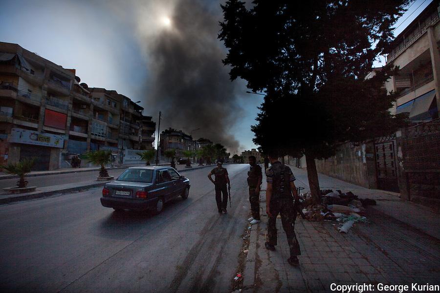 09/08/20l2, Aleppo: Assad regime tanks fire indiscriminately into residential neighbourhoods in Salahddin.