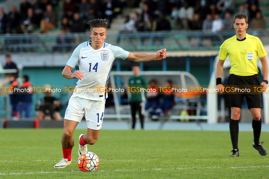 Jack Grealish of England in action during England Under-20 vs Guinea Under-20, 2016 Toulon Tournament Football at Stade de Lattre on 23rd May 2016