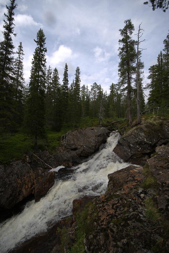 Waterfall,Budal,Norway Landscape, landskap,