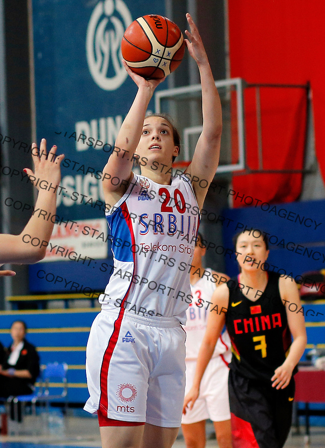 Kristina Topuzovic  prijateljska, friendly, Srbija - Kina, Serbia - China, women basketball national team Maj 29. 2015. Beograd, Srbija,  (credit image & photo: Pedja Milosavljevic / STARSPORT)
