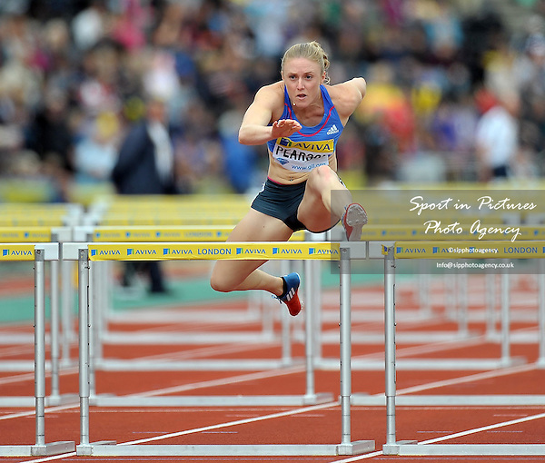 Sally Pearson (AUS) 100m Hurdles  - PHOTO: Mandatory by-line: Garry Bowden/SIP/Pinnacle - Photo Agency UK Tel: +44(0)1363 881025 - Mobile:0797 1270 681 - VAT Reg No: 768 6958 48 - 14/07/2012 - Samsung Diamond League, Crystal Palace, London, England