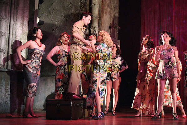 Cast <br /> 'From Here to Eternity' new musical theatre photocall,  Shaftesbury Theatre, London, England, UK, October 16th 2013.<br /> music acting on stage full length costume <br /> CAP/ROS<br /> &copy;Steve Ross/Capital Pictures
