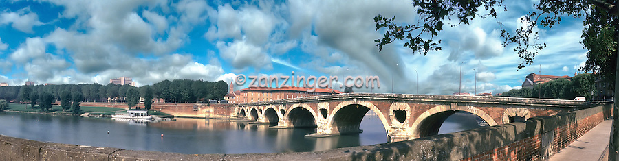 The Garonne is the main river of the western South of France 525 km long. It takes its source in the Pyrenees, swells of the Ariege before crossing Toulouse CGI Backgrounds, ,Beautiful Background