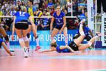 11.05.2019, Scharrena, Stuttgart<br />Volleyball, Bundesliga Frauen, Play-offs Finale, 5. Spiel, Allianz MTV Stuttgart vs. SSC Palmberg Schwerin<br /><br />Abwehr Madison Bugg (#4 Stuttgart)<br /><br />  Foto © nordphoto / Kurth