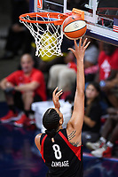 Washington, DC - Sept 17, 2019: Las Vegas Aces center Liz Cambage (8) makes a lay up during WNBA Playoff semi final game between Las Vegas Aces and Washington Mystics at the Entertainment & Sports Arena in Washington, DC. The Mystics hold on to beat the Aces 97-95. (Photo by Phil Peters/Media Images International)
