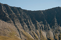 Detail of a cliff along the Tour du Mont Blanc, September 2007