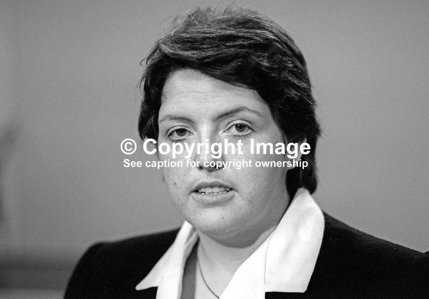 Rosemary Cooper, aka Rosie Cooper, Liberal Party, candidate, Knowsley North by-election, UK, 19860913RC1<br />
