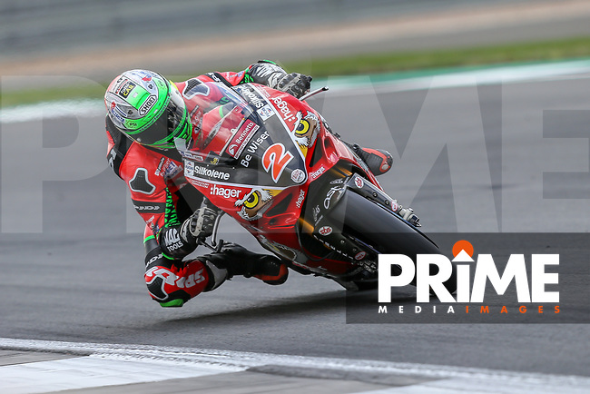 Glenn IRWIN (2) of the BSB Be wiser Ducati race team  during Free Practice 2 at Round 9 of the 2018 British Superbike Championship at Silverstone Circuit, Towcester, England on Friday 7 September 2018. Photo by David Horn.