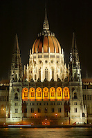 Hungarian Parliment building at night - Budapest - Hungary