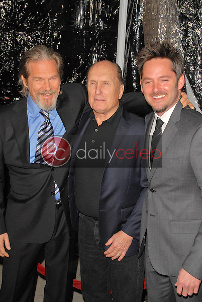 """Jeff Bridges, Robert Duvall and Scott Cooper<br /> at the """"Crazy Heart"""" Los Angeles Premiere, Acadamy of Motion Picture Arts and Sciences, Beverly Hills, CA. 12-08-09<br /> David Edwards/DailyCeleb.com 818-249-4998"""