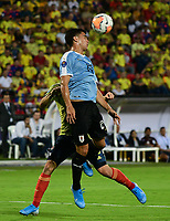 BUCARAMANGA - COLOMBIA, 09-02-2020: Rodrigo Formento de Uruguay en acción durante partido entre Colombia U-23 y Uruguay U-23 por el cuadrangular final como parte del torneo CONMEBOL Preolímpico Colombia 2020 jugado en el estadio Alfonso Lopez en Bucaramanga, Colombia. / Rodrigo Formento of Uruguay in action during the match between Colombia U-23 and Uruguay U-23 for for the final quadrangular as part of CONMEBOL Pre-Olympic Tournament Colombia 2020 played at Alfonso Lopez stadium in Bucaramanga, Colombia. Photo: VizzorImage / Jaime Moreno / Cont