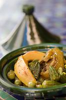 Afrique/Afrique du Nord/Maroc/Rabat: Hotel - Maison d'Hote Villa Mandarine - Tajine d'agneau aux coings et gombos