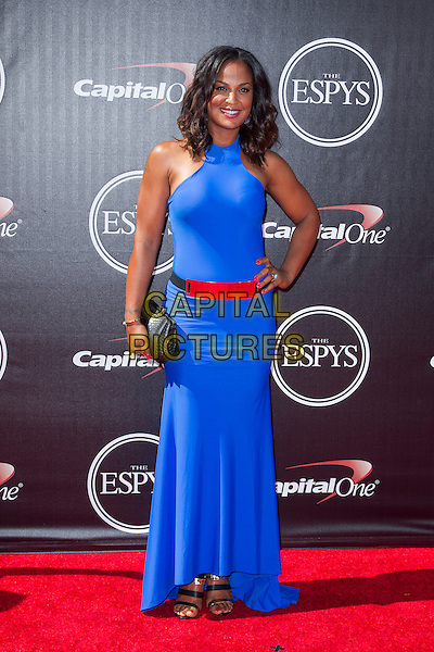 LOS ANGELES, CA - JULY 16: Laila Ali at the 2014 ESPYs at Nokia Theatre L.A. Live in Los Angeles, California on July 16th, 2014.   <br /> CAP/MPI/mpi99<br /> &copy;mpi99/MediaPunch/Capital Pictures
