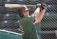 June 5, 2008: Infielder Andrew Davis (32) of the Augusta GreenJackets, Class A affiliate of the San Francisco Giants, prior to a game against the Greenville Drive at Fluor Field at the West End in Greenville, S.C. Photo by:  Tom Priddy/Four Seam Images