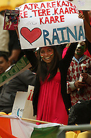 A fan expresses her love for Raina during the 2nd ODI cricket match between the New Zealand Black Caps and India at Westpac Stadium, Wellington, New Zealand on Friday, 6 March 2009. Photo: Dave Lintott / lintottphoto.co.nz
