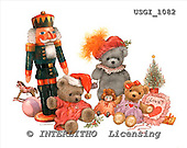 GIORDANO, CHRISTMAS ANIMALS, WEIHNACHTEN TIERE, NAVIDAD ANIMALES, Teddies, paintings+++++,USGI1082,#XA#