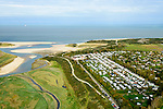 Nederland, Zeeland, Zeeuws-Vlaanderen, 19-10-2014; Het Zwin, oorspronkelijk zeearm, nu een strandgeul omgeven door schorren. Naast het natuurgebied Zomerdorp Het Zwin en Cadzand-Bad.<br /> The Zwin, originally estuary, now a beach gully surrounded by marshes.<br /> luchtfoto (toeslag op standard tarieven);<br /> aerial photo (additional fee required);<br /> copyright foto/photo Siebe Swart