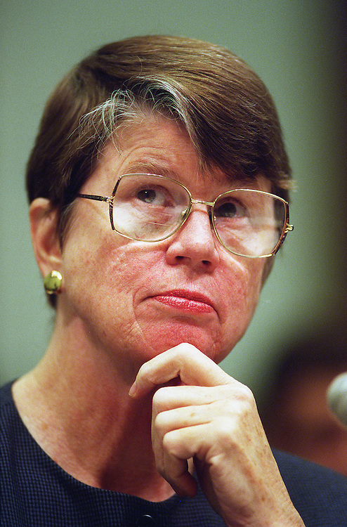 10/15/97.JUDICIARY HEARING--Attorney General Janet Reno testifies before the House Judiciary Committee during an oversight hearing on the Justice Department..CONGRESSIONAL QUARTERLY PHOTO BY SCOTT J. FERRELL