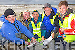 Fishermen John Sheehan(Tralee) and event organisers Mike Enright, Pat Carolan, Tom Allen and Kevin Arty(Ballybunnion) who took part in a special fishing competition last Saturday as part Ballybunnion's first Sea Food Festival.