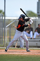 Miami Marlins Casey Soltis (11) during a minor league spring training game against the New York Mets on March 30, 2015 at the Roger Dean Complex in Jupiter, Florida.  (Mike Janes/Four Seam Images)