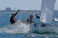 470 / Kurt HANSEN - Jim COLLEY  (AUS)<br /> ISAF Sailing World Cup Final - Melbourne<br /> St Kilda sailing precinct, Victoria<br /> Port Phillip Bay Tuesday 6 Dec 2016<br /> &copy; Sport the library / Jeff Crow