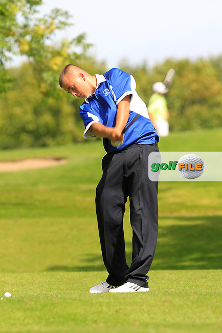 Alex Brady (Rosslare) on the 11th tee during the Irish Boys Under 15 Amateur Open Championship Round 2 at the West Waterford Golf Club on Wednesday 21st August 2013 <br /> Picture:  Thos Caffrey/ www.golffile.ie
