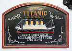 Commemoration plaque for Titanic steamship, Cobh, County Cork, Ireland, Irish Republic 1912