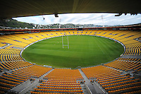 A general view of the pitch at Westpac Stadium, Wellington on Friday, 14 November 2014. Photo: Dave Lintott / lintottphoto.co.nz
